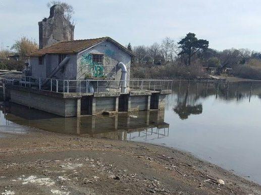 crisi idrica del lago di Bracciano registrata presso il Castello Vici