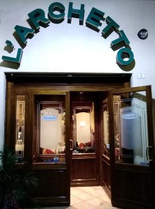 ingresso del ristorante l'Archetto da Lidia di Bracciano