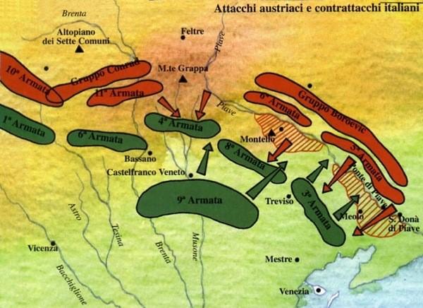 La Battaglia del Solstizio vittoria dell'artiglieria italiana