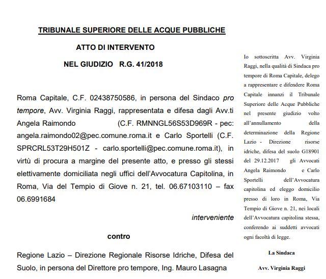 """Comuni Lago di Bracciano: """"Raggi ritiri ricorso contro determinazione regionale"""""""