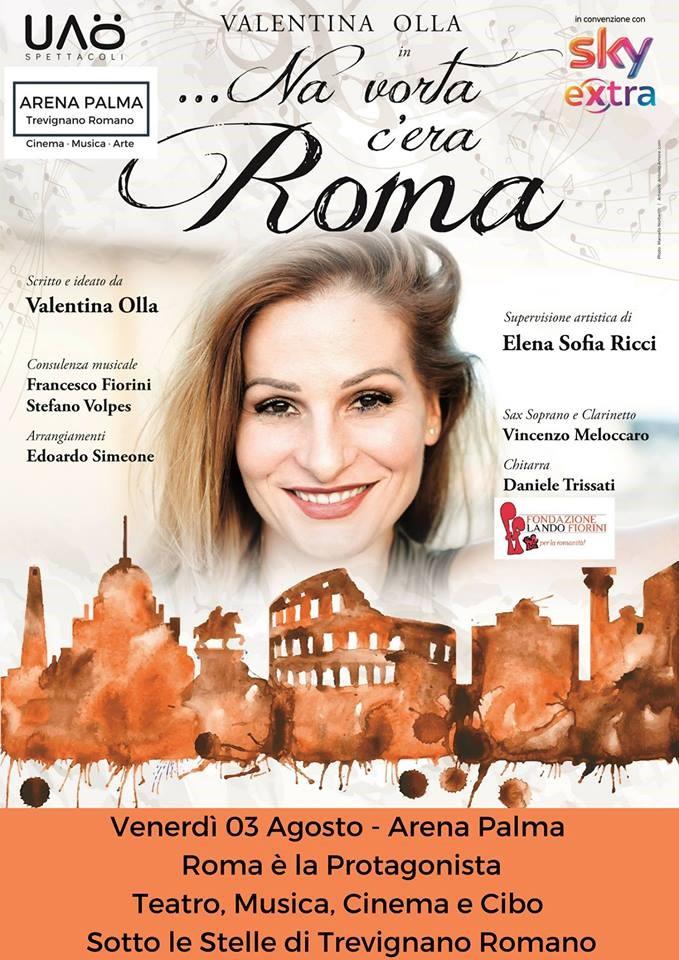 All'Arena Palma di Trevignano il 6 agosto spettacolo 'Na vorta c'era Roma