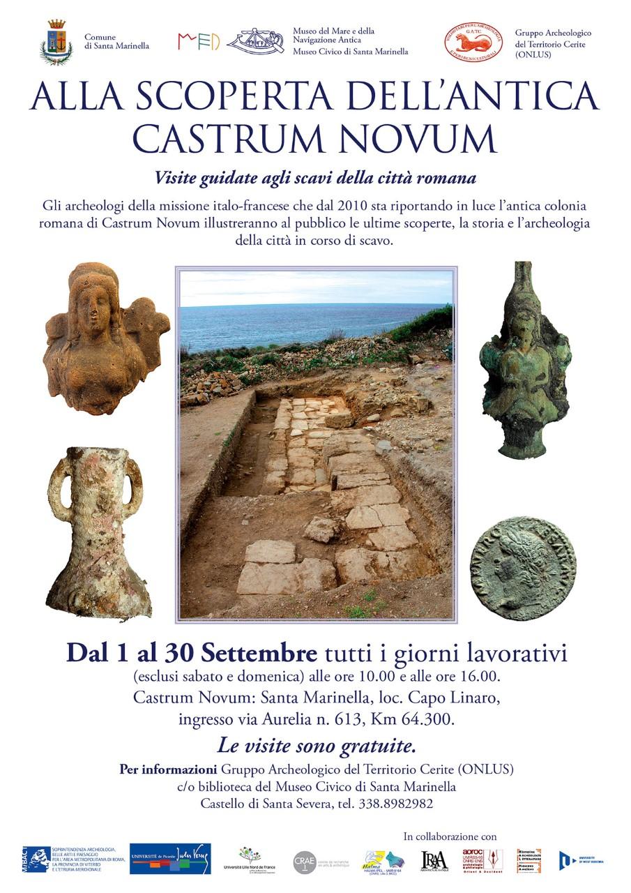Castrum Novum: visite gratuite agli scavi archeologici
