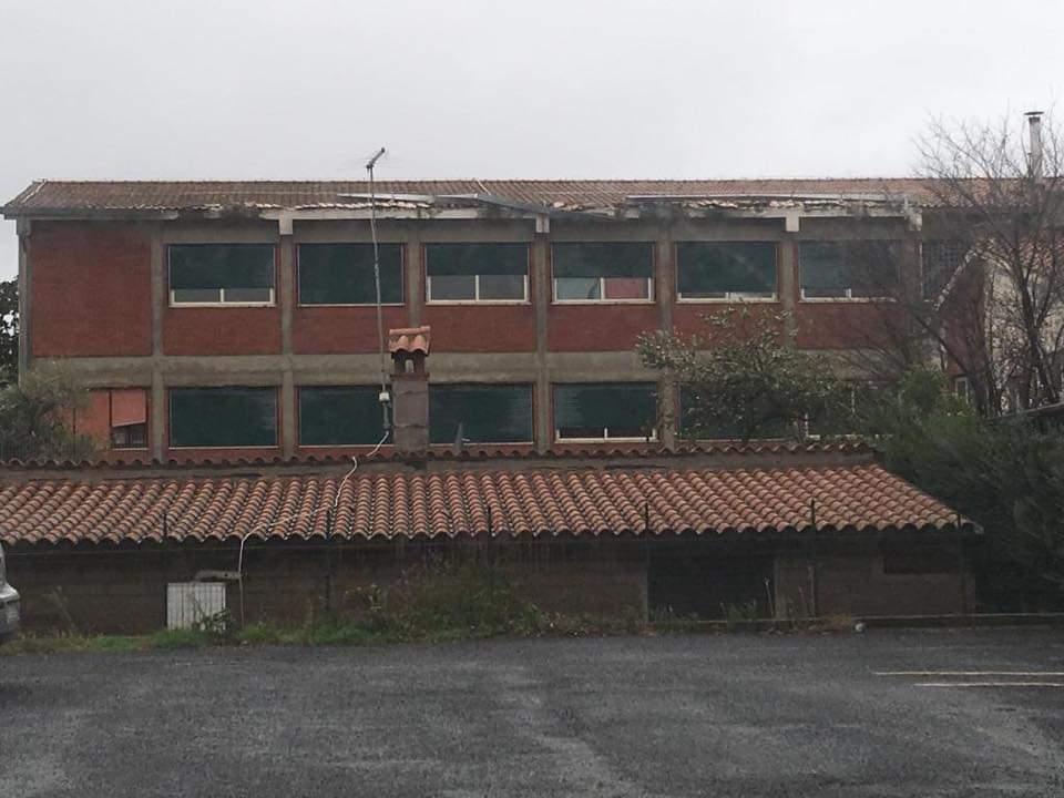 Maltempo in atto: pali ed alberi caduti. Ad Anguillara danni alla scuola San Francesco