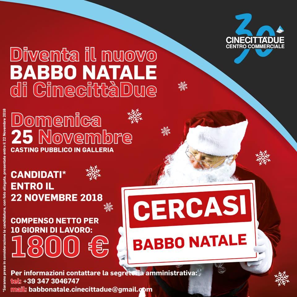 Babbo Natale Cercasi: compenso 1800 euro