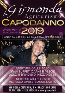 cenone di capodanno 2019 in agriturismo a Bracciano