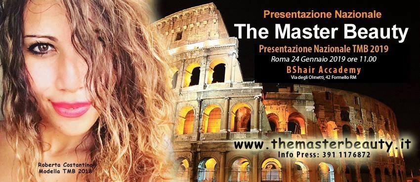 #TheMasterBeauty il 24 gennaio la presentazione a Roma