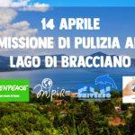 Il 14  aprile Missione di pulizia sponde e fondali al lago di Bracciano a Vigna di Valle