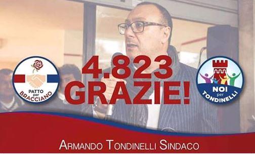 Bracciano: I 4.823 che vollero Tondinelli. Tra il dire e il fare…