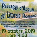 """Il 19 ottobre a Passoscuro il Convegno """"Paesaggi d'Acqua del Litorale Romano"""""""