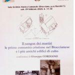 """Bracciano: il professor Giuseppe Cordiano in conferenza oggi su """"Il sangue dei Martiri"""""""