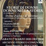 Storia di donne, donne nella Storia: Conferenza il 7 marzo a Bracciano a cura di Forum Clodii